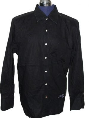 Sonneti Branded Original Black Cotton Shirt For Men