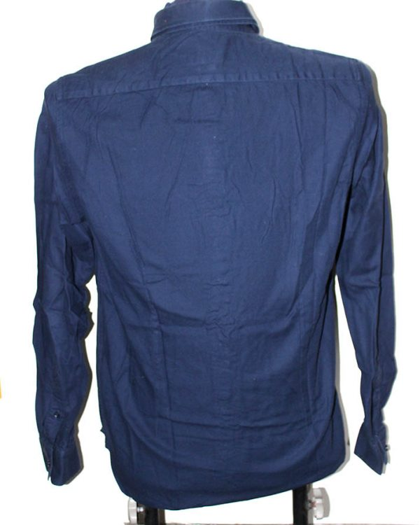 Zara Branded Original Dark Blue Cotton Shirt For Men